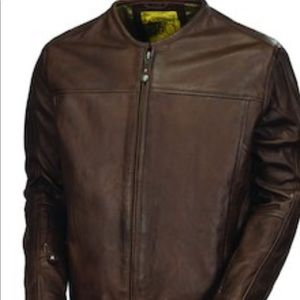 Men's Motorcycle Jacket Vintage Cafe Leather l